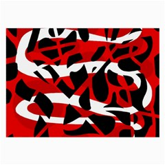 Red chaos Large Glasses Cloth (2-Side)