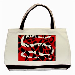 Red chaos Basic Tote Bag (Two Sides)