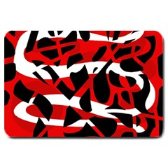Red chaos Large Doormat