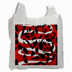 Red chaos Recycle Bag (One Side)