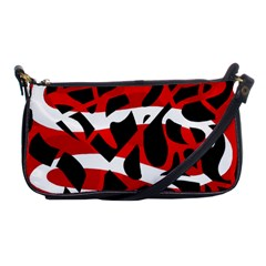 Red chaos Shoulder Clutch Bags
