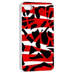 Red chaos Apple iPhone 4/4s Seamless Case (White)