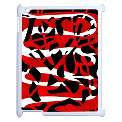 Red chaos Apple iPad 2 Case (White)