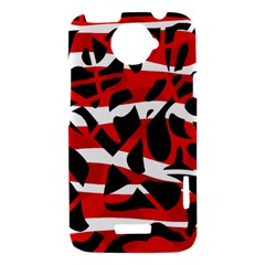 Red chaos HTC One X Hardshell Case