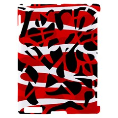 Red chaos Apple iPad 2 Hardshell Case (Compatible with Smart Cover)