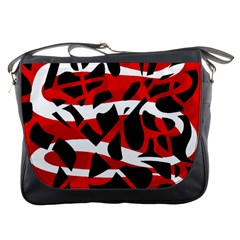 Red chaos Messenger Bags