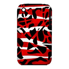 Red chaos Apple iPhone 3G/3GS Hardshell Case (PC+Silicone)