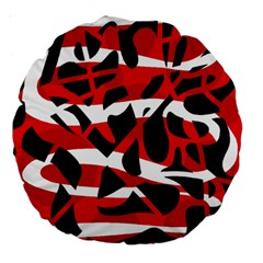 Red chaos Large 18  Premium Round Cushions