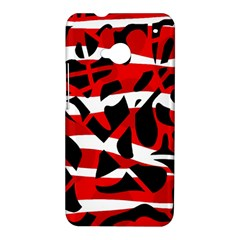 Red chaos HTC One M7 Hardshell Case