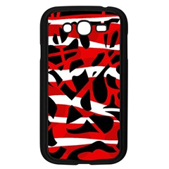 Red chaos Samsung Galaxy Grand DUOS I9082 Case (Black)