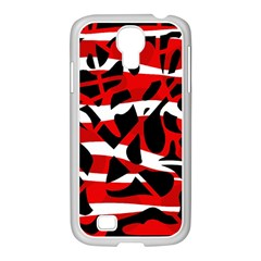 Red chaos Samsung GALAXY S4 I9500/ I9505 Case (White)