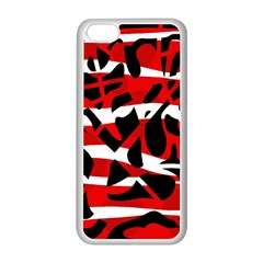 Red chaos Apple iPhone 5C Seamless Case (White)
