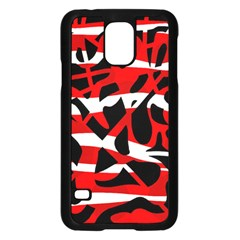 Red chaos Samsung Galaxy S5 Case (Black)