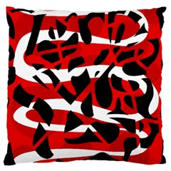 Red chaos Large Flano Cushion Case (One Side)