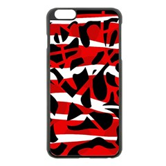 Red chaos Apple iPhone 6 Plus/6S Plus Black Enamel Case