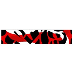 Red chaos Flano Scarf (Small)