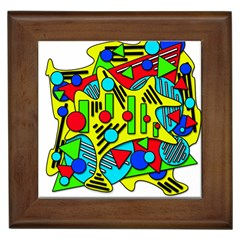 Colorful chaos Framed Tiles