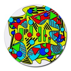 Colorful chaos Round Mousepads