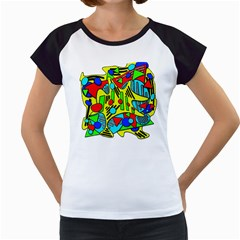 Colorful chaos Women s Cap Sleeve T