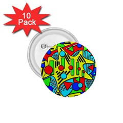 Colorful chaos 1.75  Buttons (10 pack)