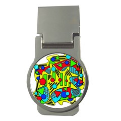 Colorful chaos Money Clips (Round)