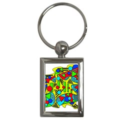 Colorful chaos Key Chains (Rectangle)