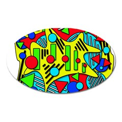 Colorful chaos Oval Magnet