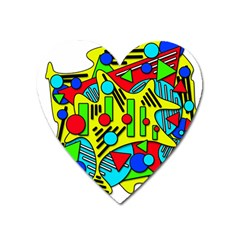 Colorful chaos Heart Magnet