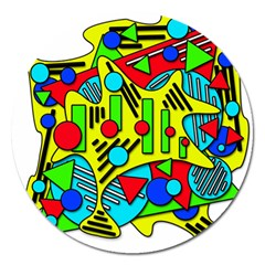 Colorful chaos Magnet 5  (Round)
