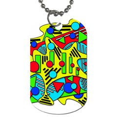 Colorful chaos Dog Tag (One Side)