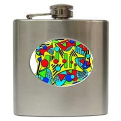 Colorful chaos Hip Flask (6 oz)