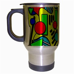 Colorful chaos Travel Mug (Silver Gray)