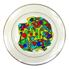 Colorful chaos Porcelain Plates