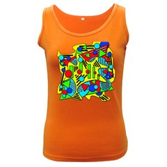 Colorful chaos Women s Dark Tank Top