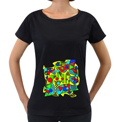 Colorful chaos Women s Loose-Fit T-Shirt (Black)
