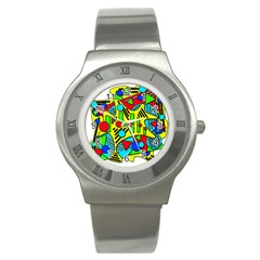 Colorful chaos Stainless Steel Watch
