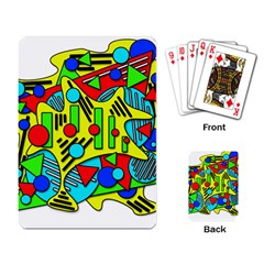 Colorful chaos Playing Card