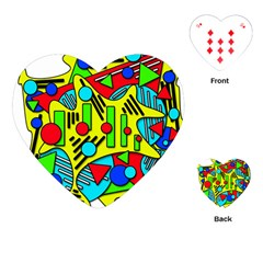 Colorful chaos Playing Cards (Heart)