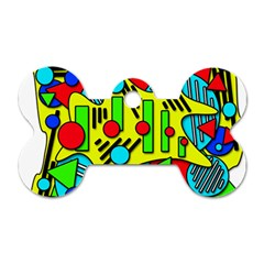 Colorful chaos Dog Tag Bone (Two Sides)