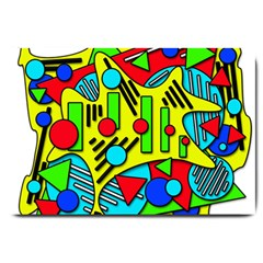 Colorful chaos Large Doormat