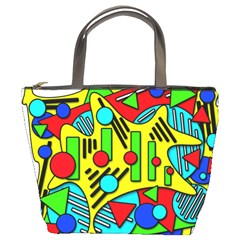 Colorful chaos Bucket Bags