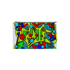 Colorful chaos Cosmetic Bag (Small)