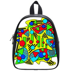 Colorful chaos School Bags (Small)