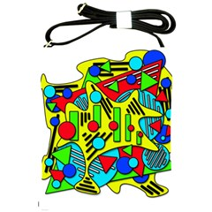 Colorful chaos Shoulder Sling Bags