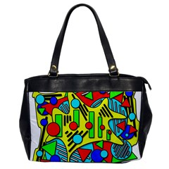 Colorful chaos Office Handbags