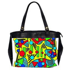 Colorful chaos Office Handbags (2 Sides)