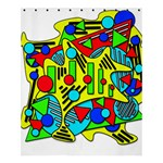 Colorful chaos Shower Curtain 60  x 72  (Medium)  54.25 x65.71 Curtain