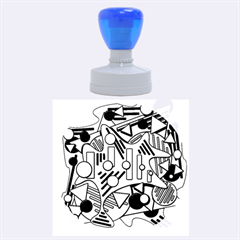 Colorful Chaos Rubber Round Stamps (large)