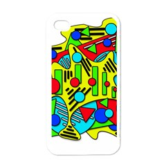 Colorful chaos Apple iPhone 4 Case (White)