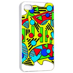 Colorful chaos Apple iPhone 4/4s Seamless Case (White)